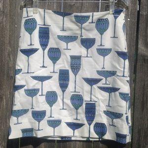 Talbots wine glass skirts